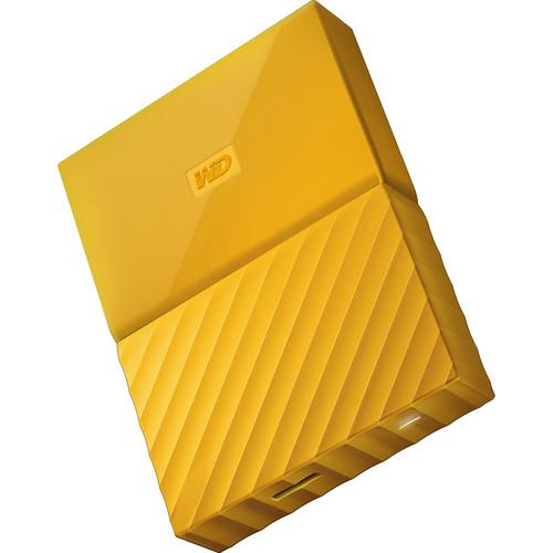 WD 2TB My Passport USB 3.0 Secure Portable Hard Drive (Yellow)