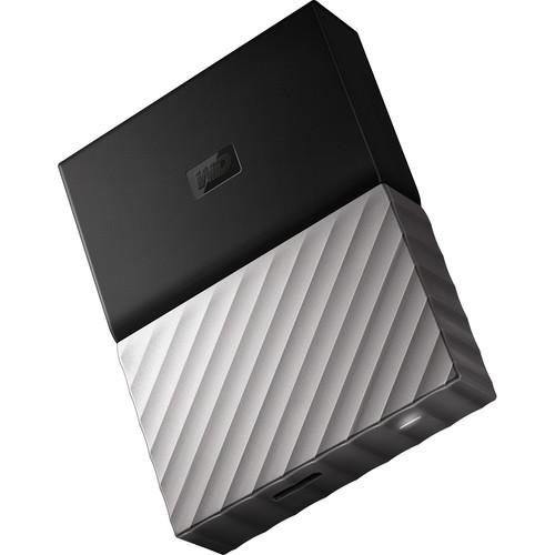WD 2TB My Passport USB 3.0 Secure Portable Hard Drive (Gray)