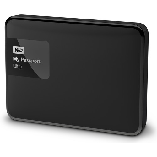 WD 500GB My Passport Ultra USB 3.0 Secure Portable Hard Drive (Black)