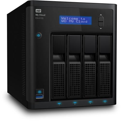 WD My Cloud Expert Series 40TB EX4100 4-Bay NAS Server (4 x 10TB)