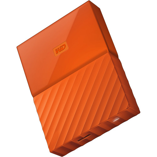 WD 2TB My Passport USB 3.0 Secure Portable Hard Drive (Orange)