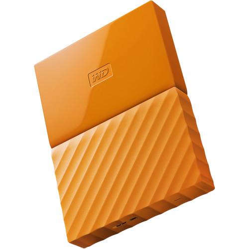 WD 1TB My Passport USB 3.0 Secure Portable Hard Drive (Orange)