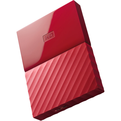 WD 1TB My Passport USB 3.0 Secure Portable Hard Drive (Red)