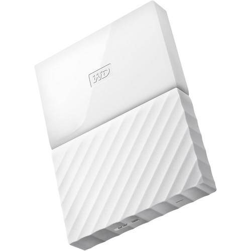 WD 1TB My Passport USB 3.0 Secure Portable Hard Drive (White)