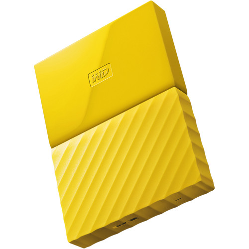WD 1TB My Passport USB 3.0 Secure Portable Hard Drive (Yellow)