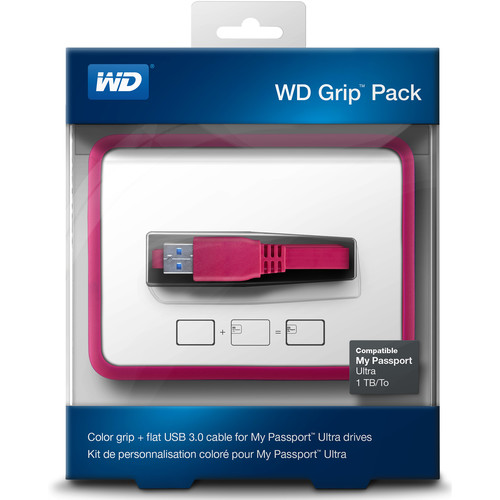 WD Grip Pack for 1TB My Passport Ultra (Fuchsia)