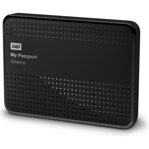 WD 1TB My Passport Cinema 4K UHD Movie Storage USB 3.0 Hard Drive (Black)