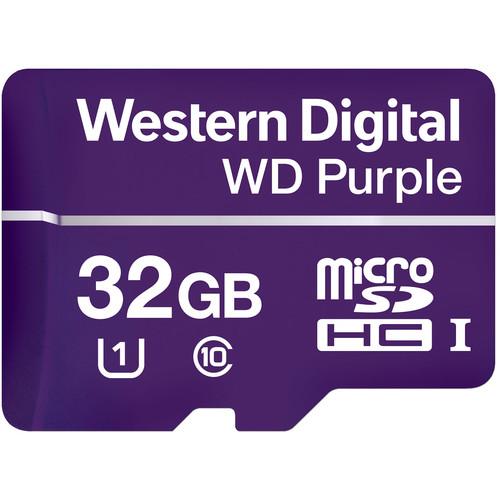 WD 32GB Purple UHS-I microSDHC Memory Card