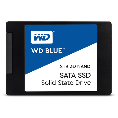 "SSD interno WD 2TB azul 3D NAND SATA III 2.5 """