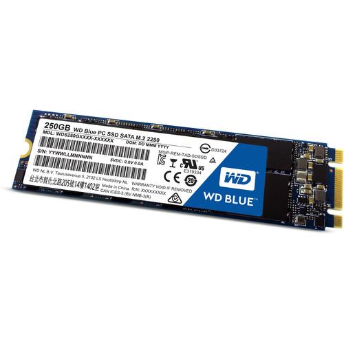 WD 250GB Blue SATA III M.2 Internal SSD
