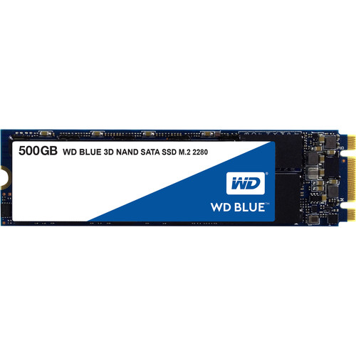 WD 500GB Blue 3D NAND SATA III M.2 2280 Internal SSD
