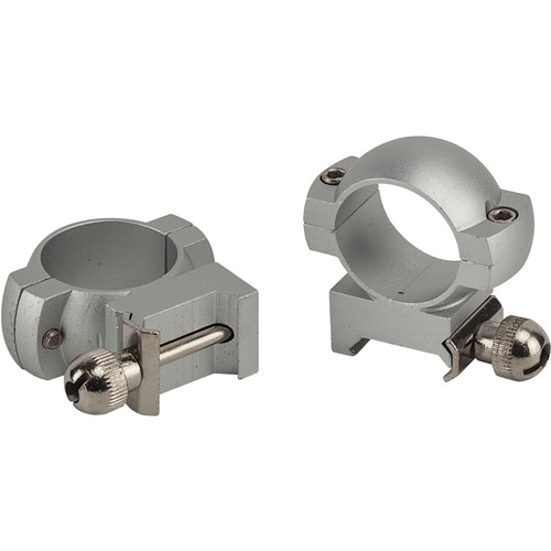 """Weaver Mount Aluminum Ring Pair (1"""" Main-Tube, High, Gloss Black)"""