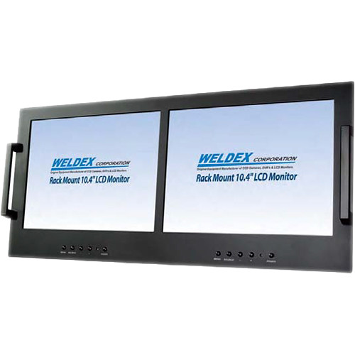 "Weldex Dual 10.4"" Industrial TFT LCD Rack Mountable Monitor"