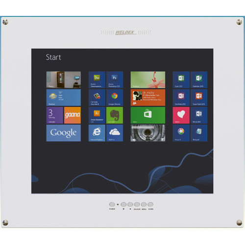 """Weldex 15"""" Industrial TFT LCD PCAP Touch Flush-Mount Monitor"""