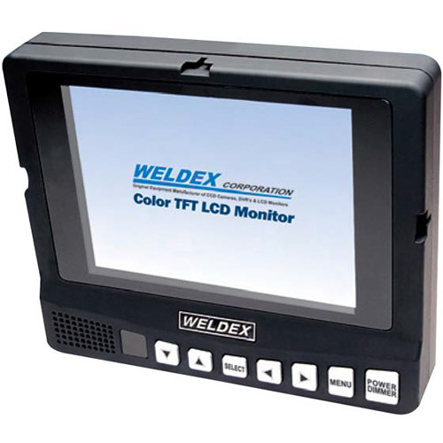 """Weldex WDL-7001M 7"""" Color TFT LCD Monitor with Built-In Speaker Composite Input"""