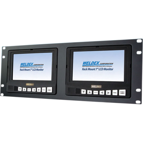 "Weldex WDL-7171M2R Dual 7"" Industrial Rack Mountable TFT LCD Monitor"