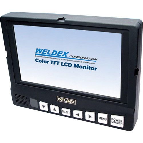 """Weldex WDL-8001M 8"""" Color TFT LCD Monitor with Built-In Speaker Composite Input"""
