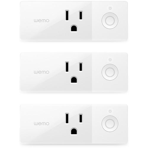 WEMO Mini Smart Plug (3-Pack)