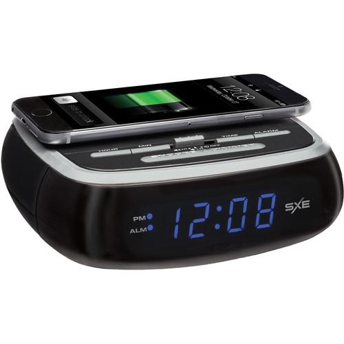 SXE Electronics Wireless Charging Digital Alarm Clock