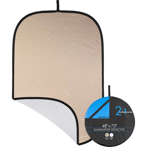 "Westcott Illuminator Sunlight/White Reflector (48 x 72"")"