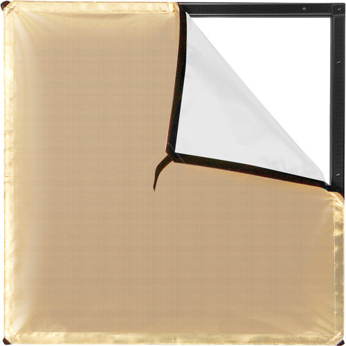 Westcott Scrim Jim Cine Gold/White Bounce Fabric (2 x 2')