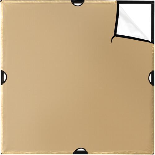 Westcott Scrim Jim Cine Gold/White Bounce Fabric (4 x 4')