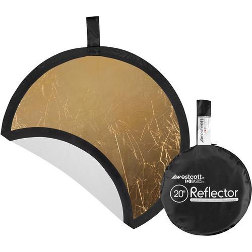 "Westcott Gold/White 20"" 2-in-1 Reflector"