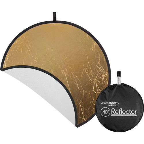 "Westcott Gold/White 40"" 2-in-1 Reflector"