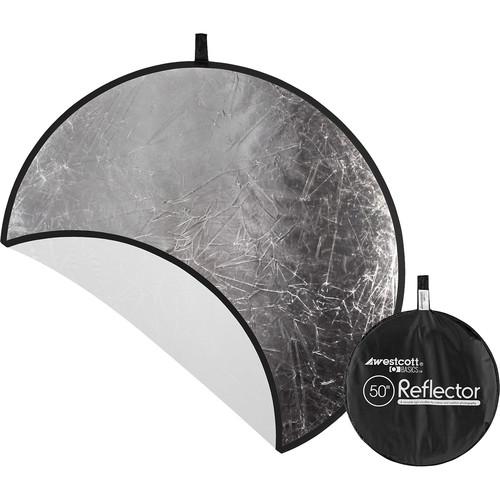 """Westcott Silver/White 50"""" 2-in-1 Reflector"""