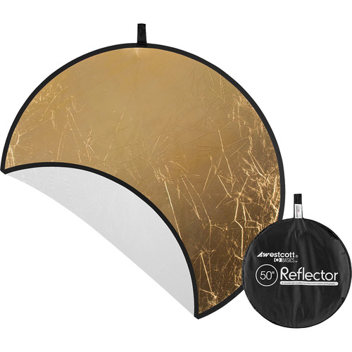 "Westcott Gold/White 50"" 2-in-1 Reflector"