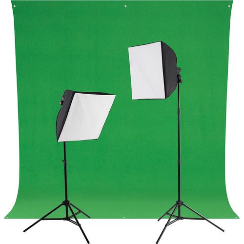 Westcott uLite LED Green Screen Photo Lighting Kit