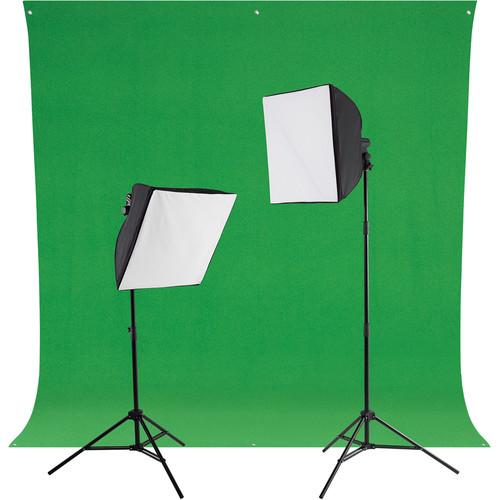 Westcott uLite 45W LED Green Screen Photo Lighting Kit