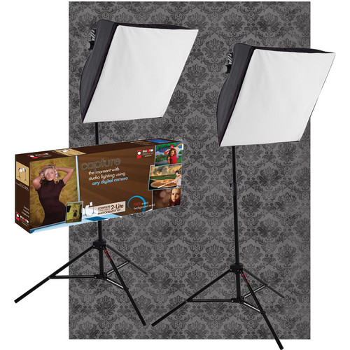 Westcott 2-Light uLite with 5x7' Eminence X-Drop Backdrop Kit
