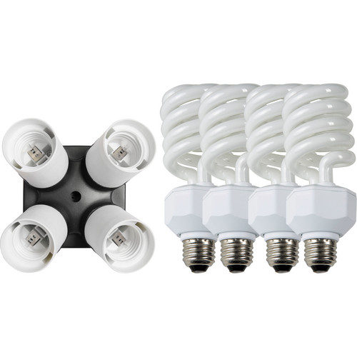 Westcott 4 Socket Adapter Kit with Daylight Fluorescent Lamps