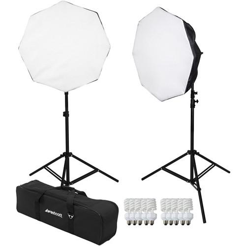 Westcott 2-Light D5 Daylight Octabox Kit with Carry Case