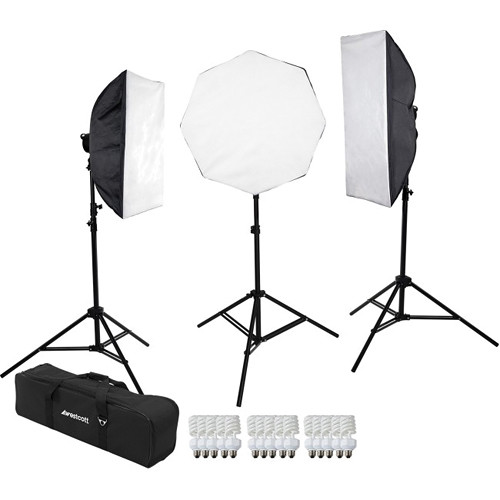 Westcott 3-Light D5 Daylight Softbox Kit with Carry Case