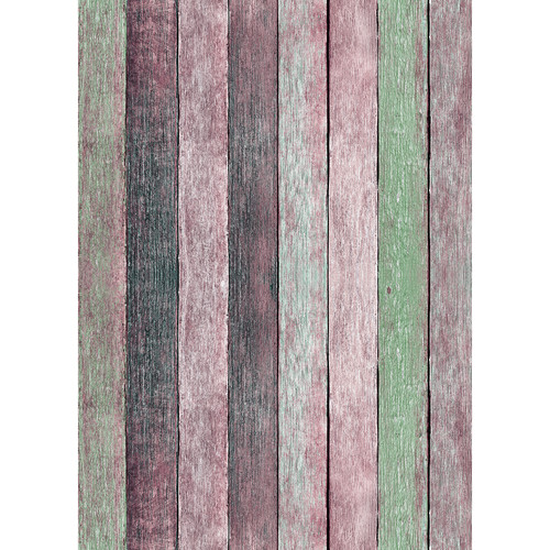 Westcott X-Drop Vinyl Backdrop (5 x 7', Rose Pastels Rustic Wood)