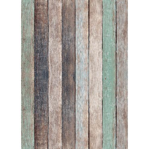 Westcott X-Drop Vinyl Backdrop (5 x 7', Nutmeg Pastel Rustic Wood)