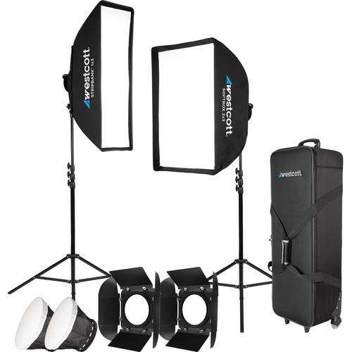 Westcott Solix Bi-Color Jen Rozenbaum 2-Light Kit with Softbox 2x3 and Stripbank 1x3