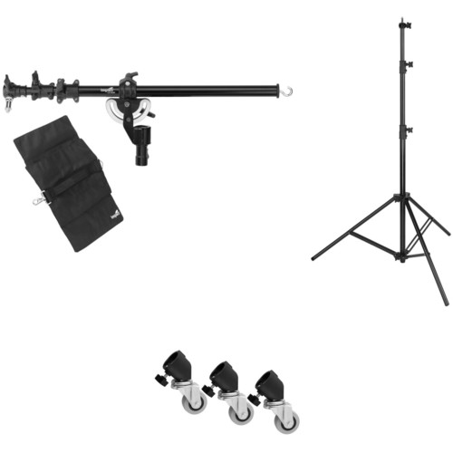 Westcott 6.5' Boom Arm Kit with Heavy-Duty Light Stand and Caster Set