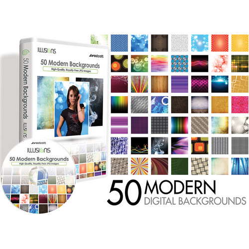 Westcott Illusions Images CD: 50 Digital Backgrounds (Modern)