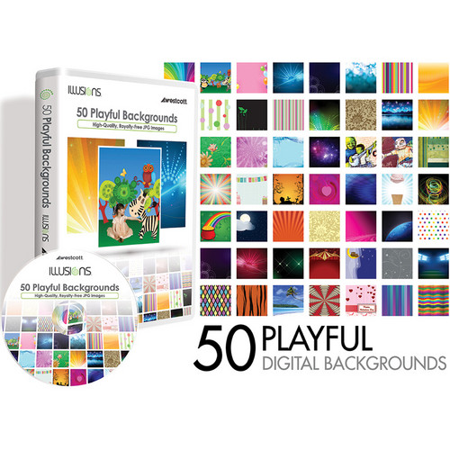 Westcott Illusions Images CD: 50 Digital Backgrounds (Playful)