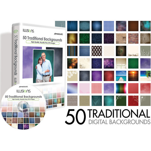 Westcott Illusions Images CD: 50 Digital Backgrounds (Traditional)