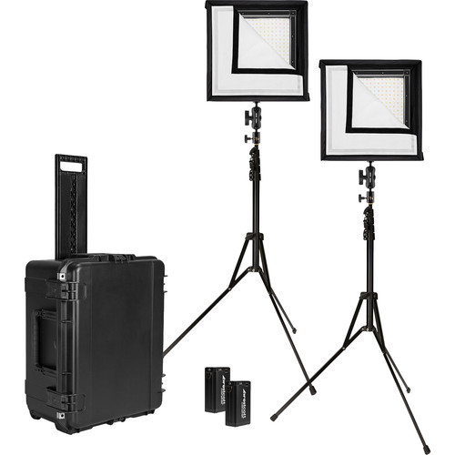 Westcott Flex Bi-Color LED Mat 2-Light Cine Travel Kit (1 x 1')