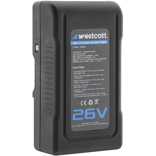 Westcott 26V Lithium-Ion Battery for Flex Cine Mats