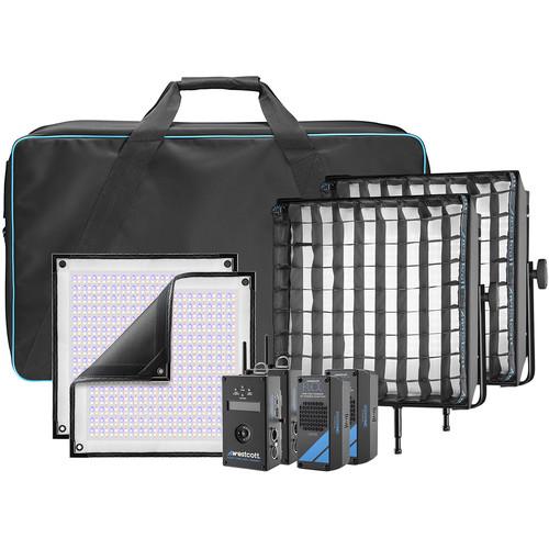 Westcott Flex Cine DMX RGBW LED Mat Two-Light Fixture Kit (1 x 1')
