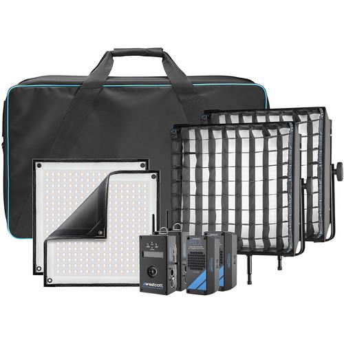 Westcott Flex Cine DMX Bi-Color LED Mat Two-Light Fixture Kit (1 x 1')