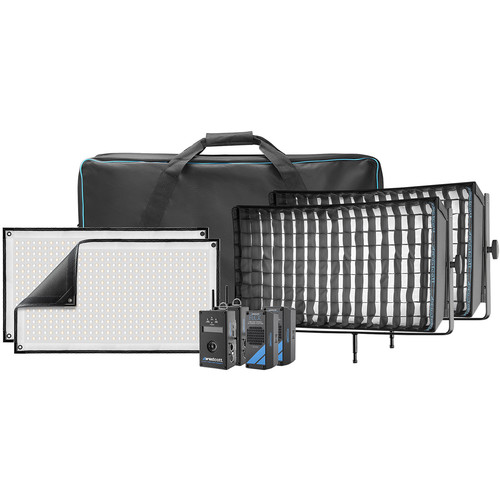 Westcott Flex Cine DMX Bi-Color LED Mat Two-Light Fixture Kit (1 x 2')