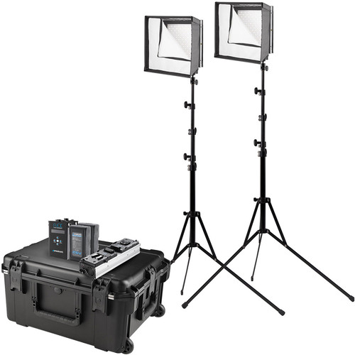 Westcott Flex Cine Bi-Color LED 2-Light Travel Kit (1 x 1')