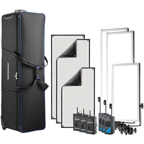 Westcott Peter Hurley Flex Cine Bi-Color Wireless DMX 3-Light Kit